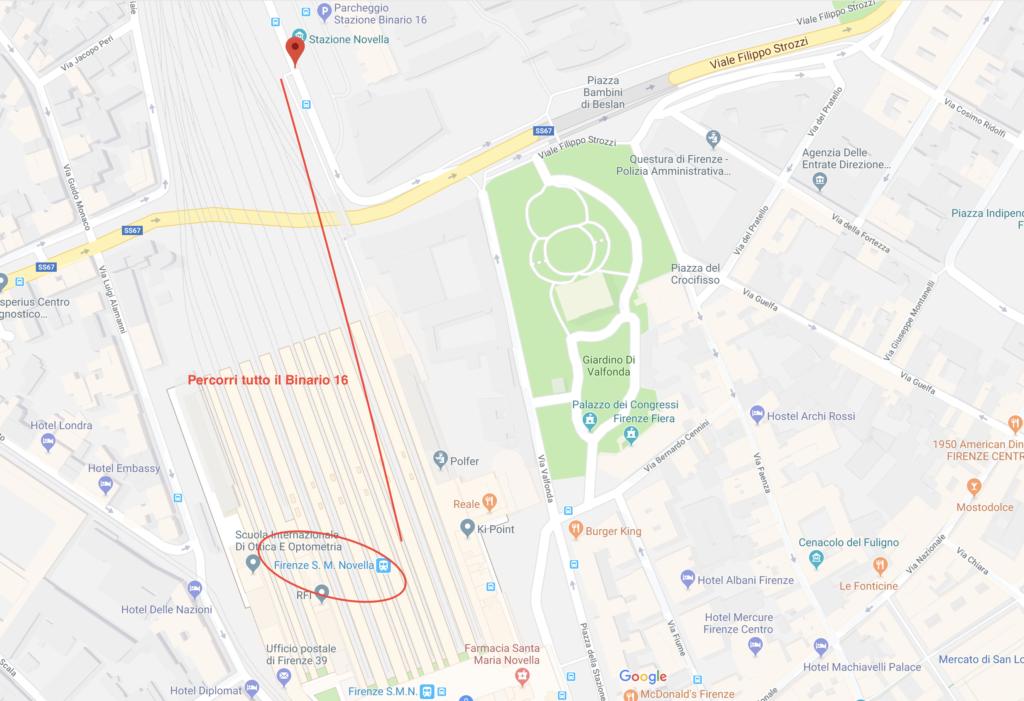 Fermata Autobus da Firenze SMN a Pisa Aeoporto Galilei