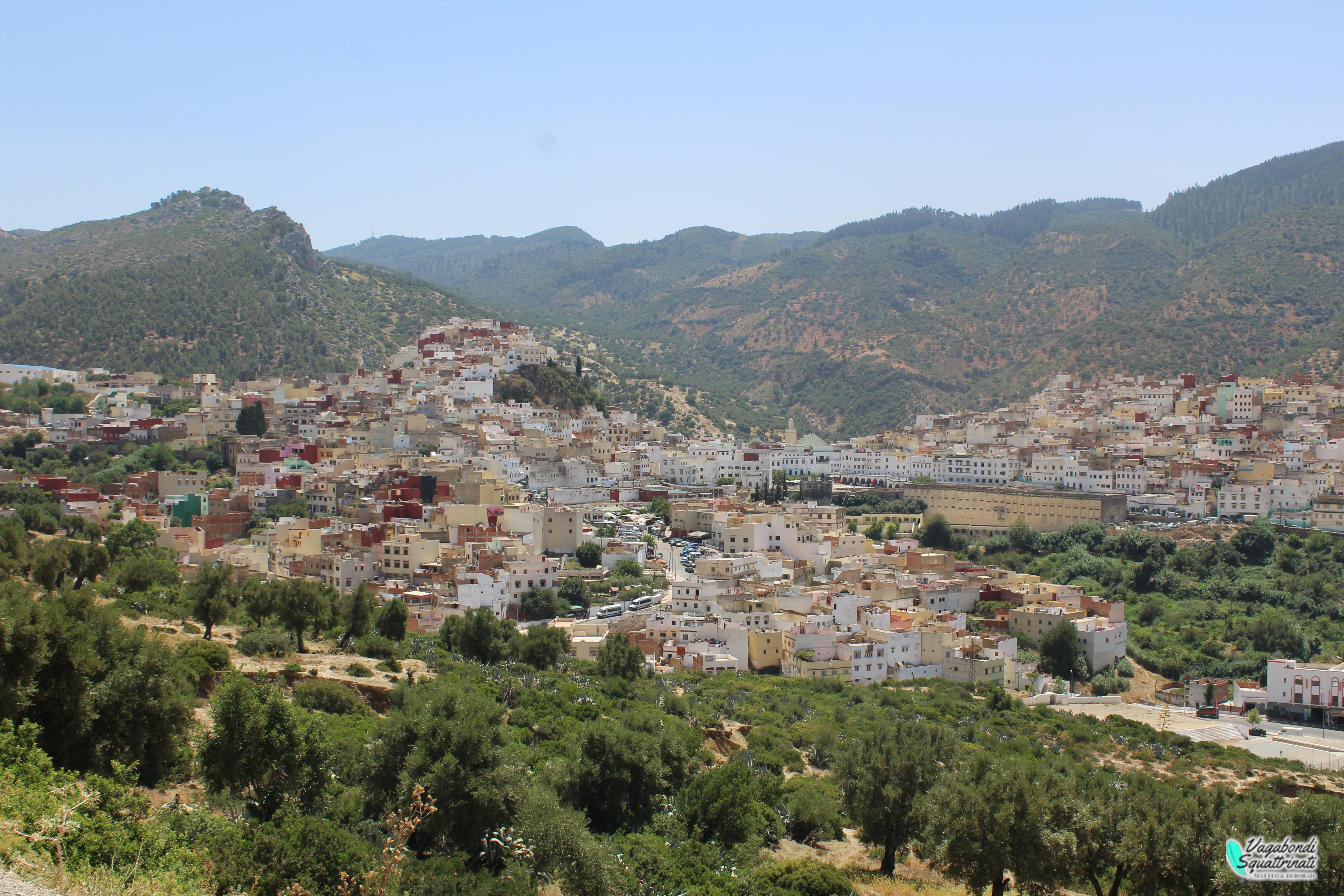 Vista di Moulay Idriss, la città santa del Marocco