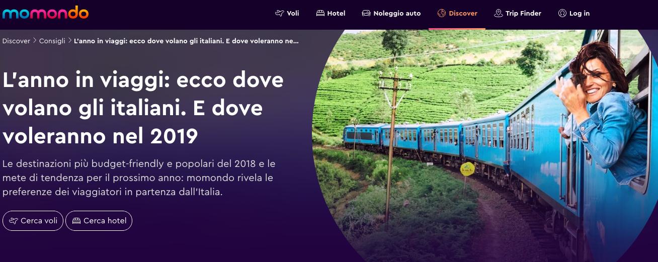 L'anno in viaggi: dove hanno volato e dove voleranno gli Italiani