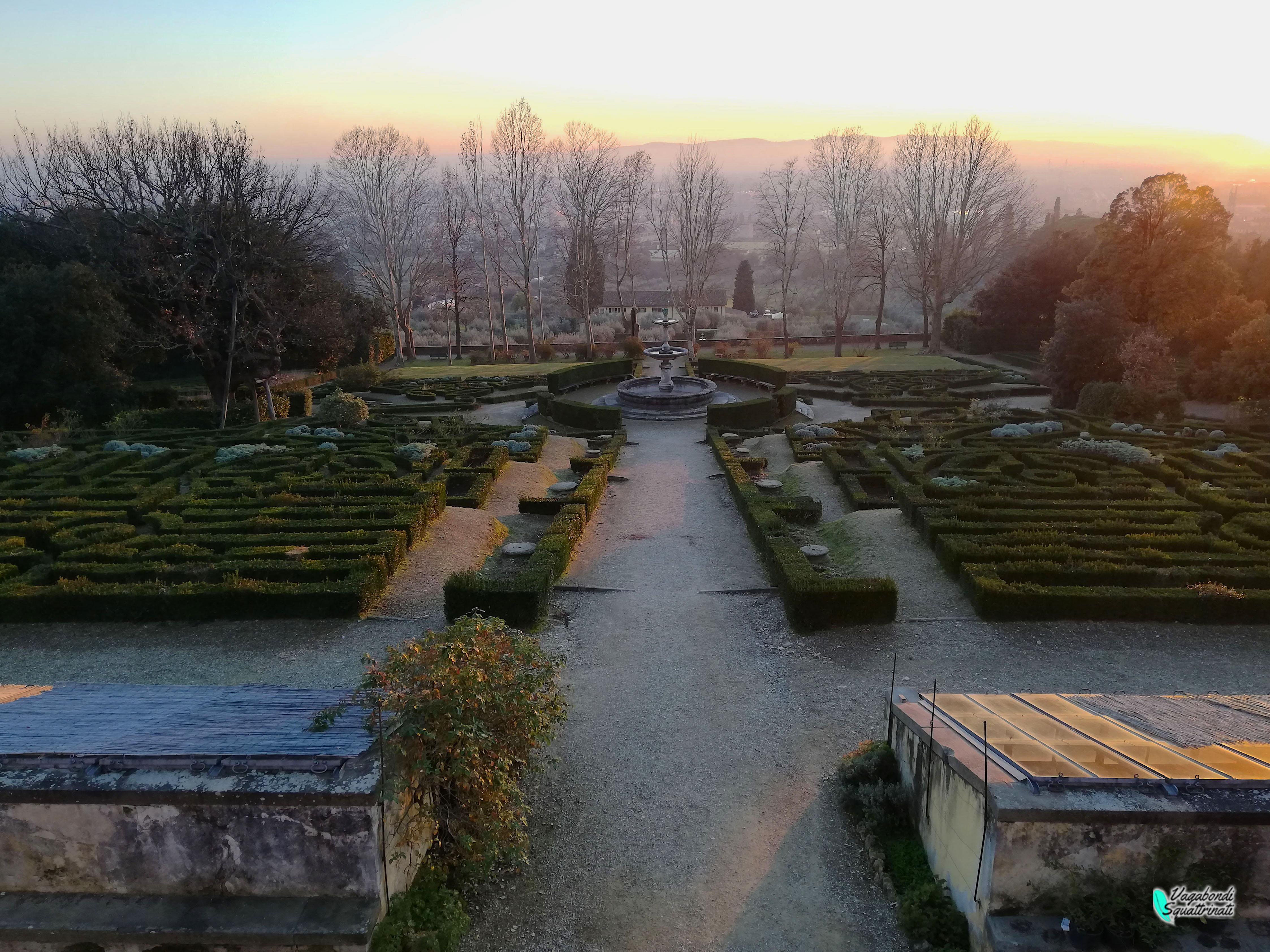 giardini della Villa Medicea della Petraia