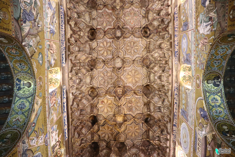 un giorno a palermo cappella palatina soffitto