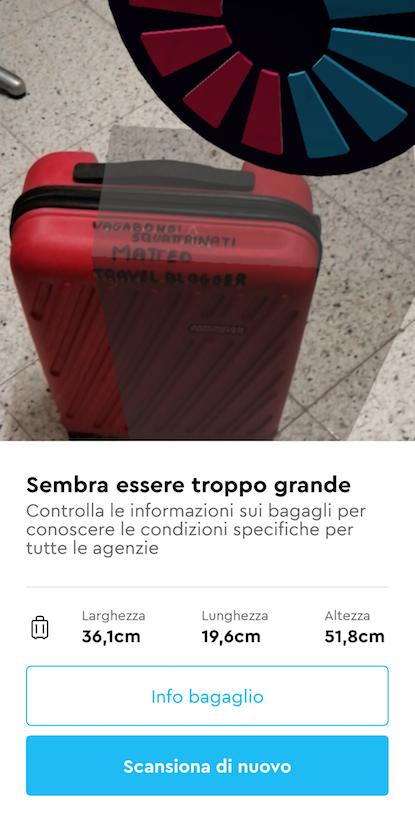 app momondo bagaglio