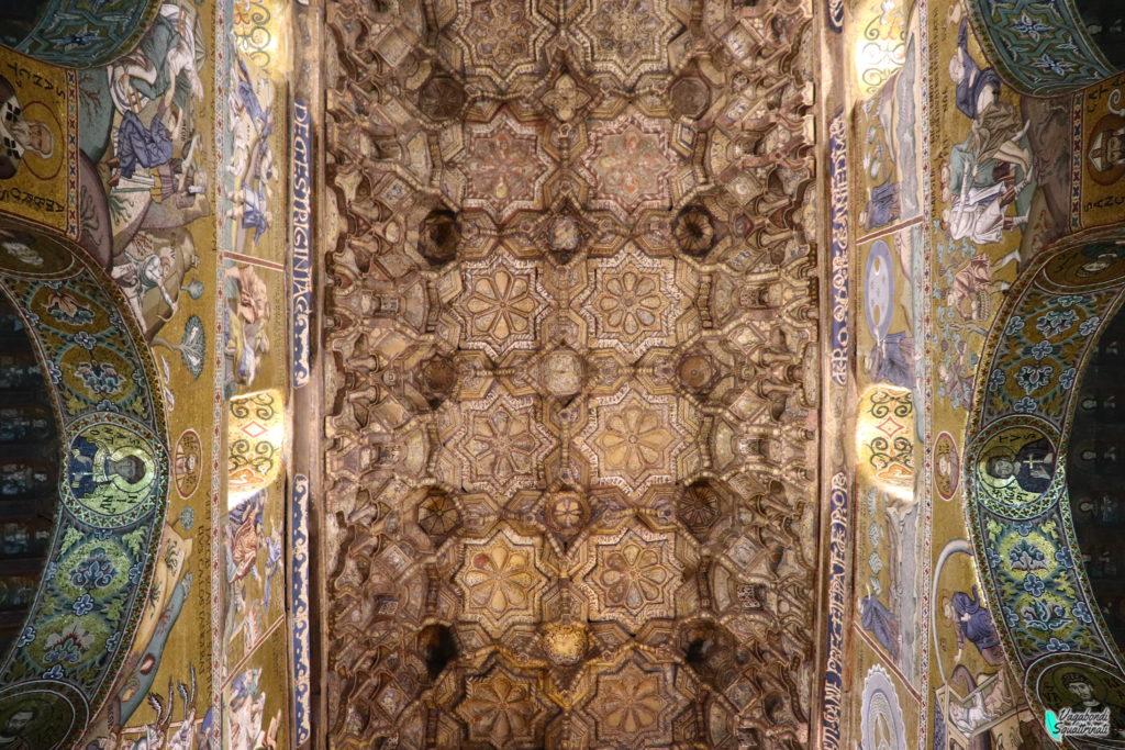vistare la cappella palatina Palermo palazzo dei normanni soffitto