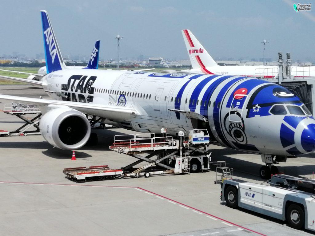 aereo all Nippon airways Star Wars viaggio a Tokyo