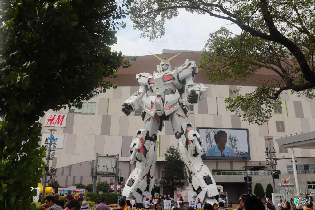 gundam gigante diario di viaggio a tokyo