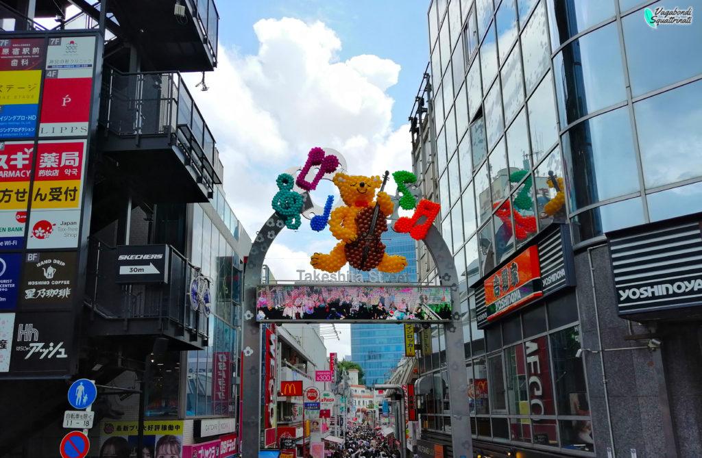 viaggio a tokyo harajuku taskeshita dori