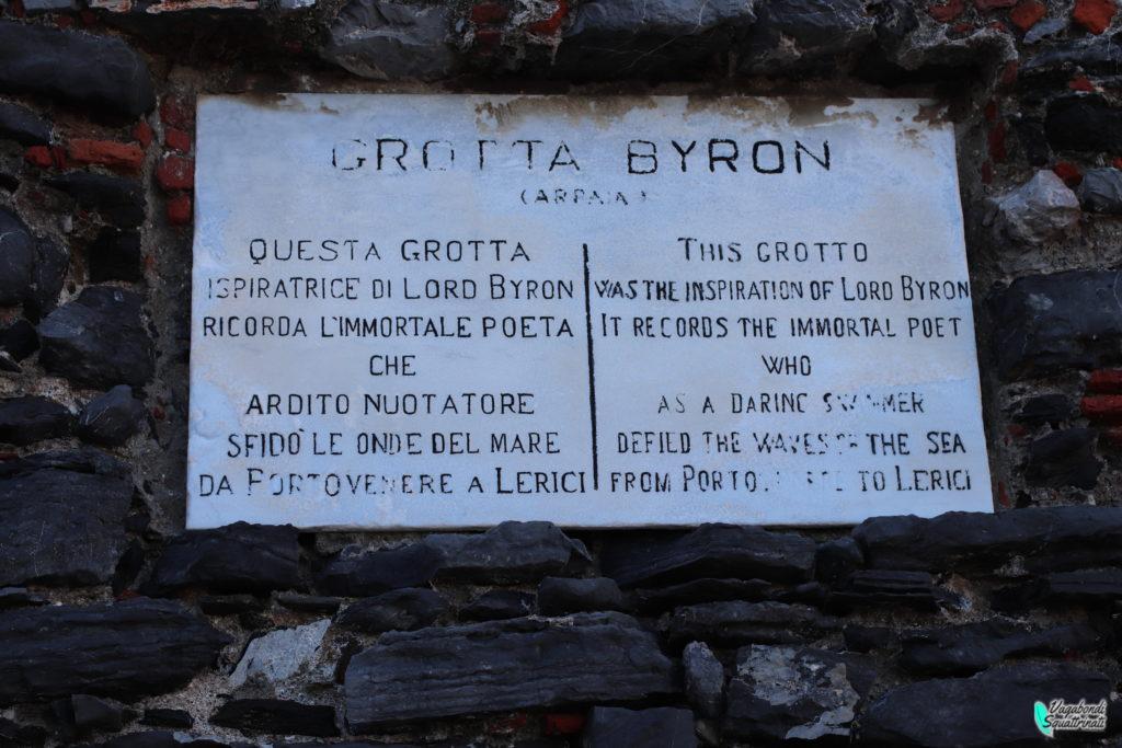 cosa vedere a portovenere grotta di Byron