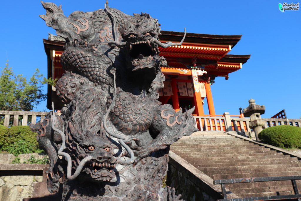 visitare il kiyomizu-dera drago