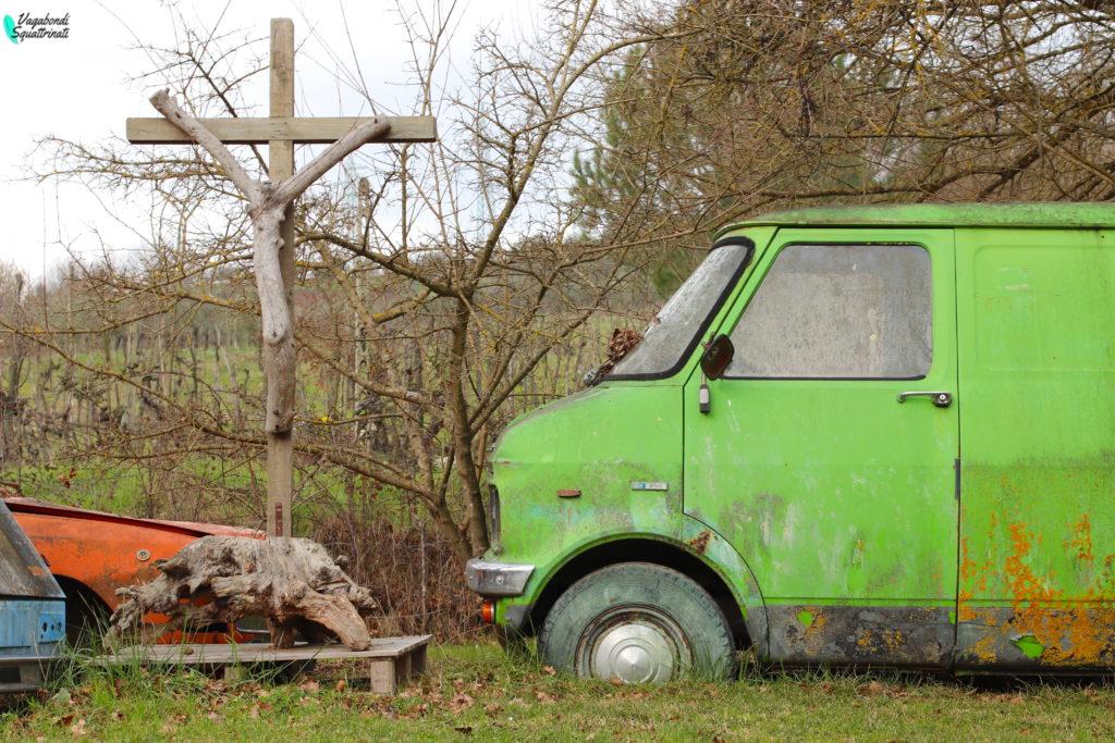 vecchio furgone verde