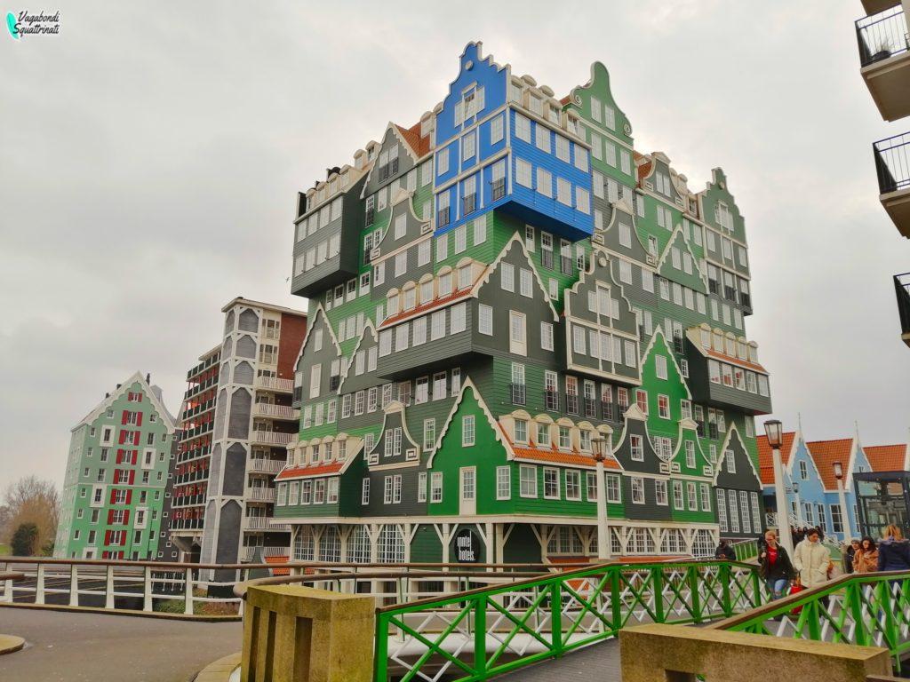 viaggio ad amsterdam Zaandam albergo casette colorate