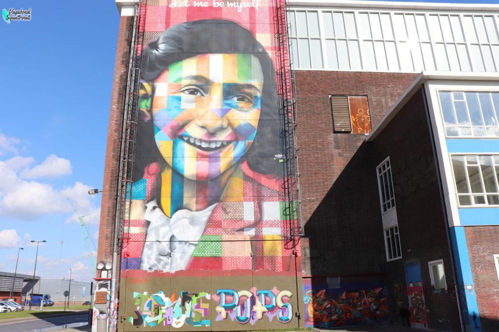 quartiere NDSM amsterdam murales anna frank