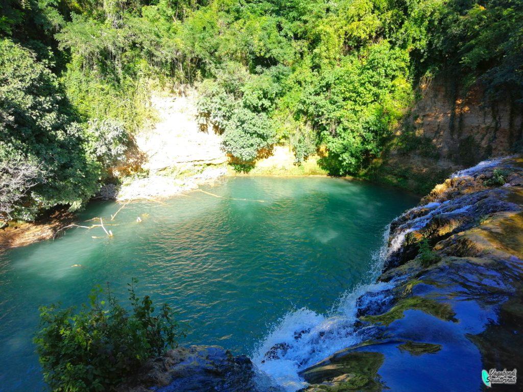 cascata del Dioborrato fiume turchese toscana