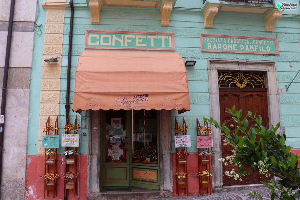 negozio confetti Sulmona