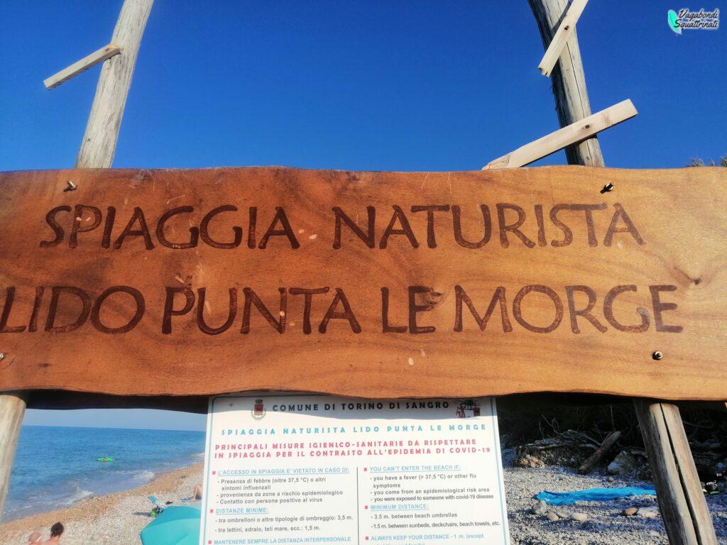 costa dei trabocchi lido punta le morge spiaggia naturista