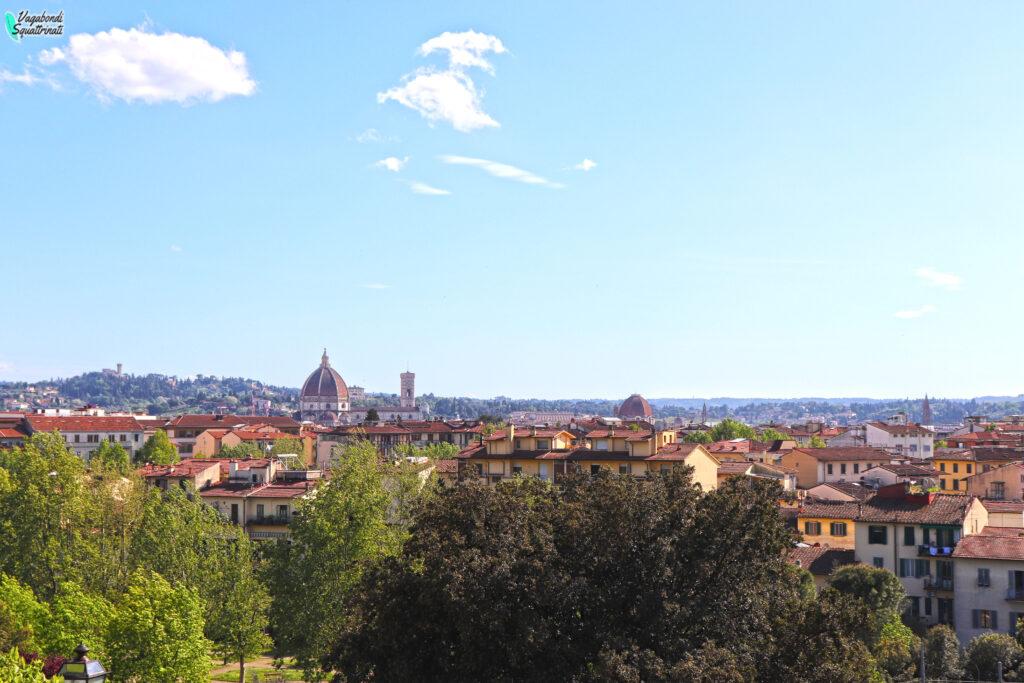 Firenze insolita: gli Orti del Parnaso panorama Firenze